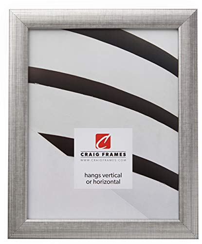 Craig Frames 23247944 8.5 by 11-Inch Picture Frame, Smooth Finish, 1-Inch Wide, Distressed (Wide Distressed Black Picture Frame)