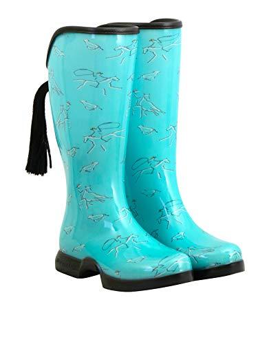 HOOFiTZ Western Teal - Waterproof Equestrian Rain Boots
