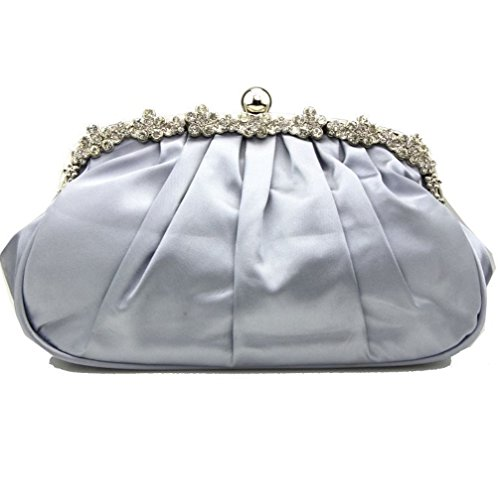 Silver SHISHANG Bag Ladies Party 2018 Fold Multi Dinner Satin Clutch Function ZYXCC Satin 4qUnS4Rp7