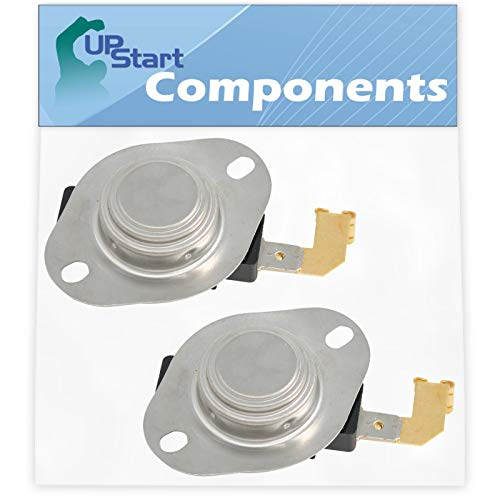 2-Pack 3977767 Dryer Thermostat Replacement for Maytag MEDC215EW1 Dryer - Compatible with WP3977767 High Limit Thermostat - UpStart Components Brand (Component Model Number)