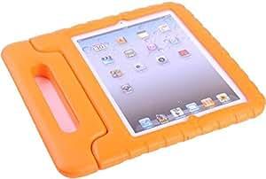Orange Child Kids Shock Proof Foam EVA Cover Case Handle Stand For iPad mini