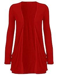 Fashipap Womens Ladies Open Boyfriend Cardigan Jersey Shrug With Pockets US 4-22