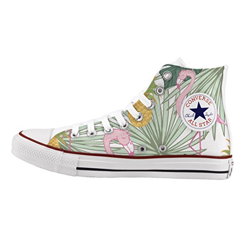 Artigianali Personalizzate Converse Flamingo Stampa Alta Star All Scarpe xXPqPRw
