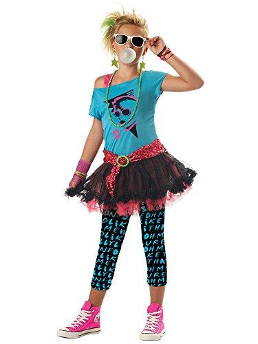 80's Valley Girl Tween Costume - Large