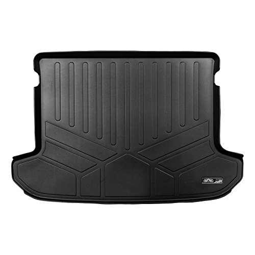 - MAX LINER D0244 Weather Trunk Liner Floor Mat Black for 2017-2019 Kia Sportage-Factory Cargo Tray in Upper Position