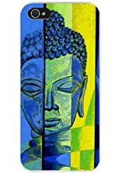 DECO FAIRY® Yellow and Blue Buddha Face Snap on Case Cover for Apple iPhone 6 Plus (5.5)
