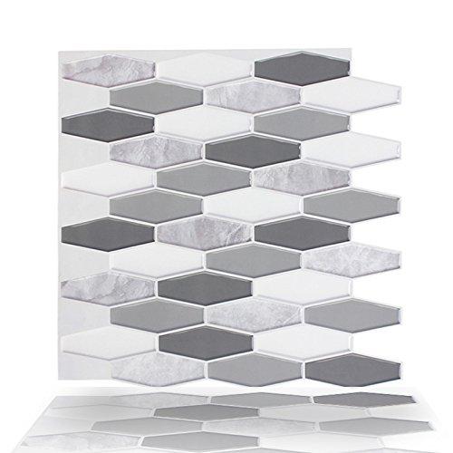 Stick Press - T.Y.S Peel and Stick Kitchen/Bathroom Backsplash Anti-mold Wall Sticker,12