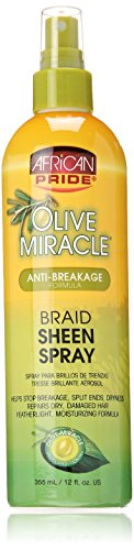 Tail Olive Oil - African Pride Olive Miracle Braid Sheen Spray, 12 Ounce