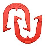 Stinger Professional Pitching Horseshoes- Made in USA! ... (Red- Single Pair (2 Shoes))