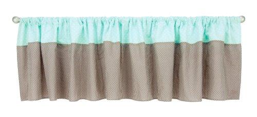 - Trend Lab Cocoa Mint Window Curtain Valance, Mint Green