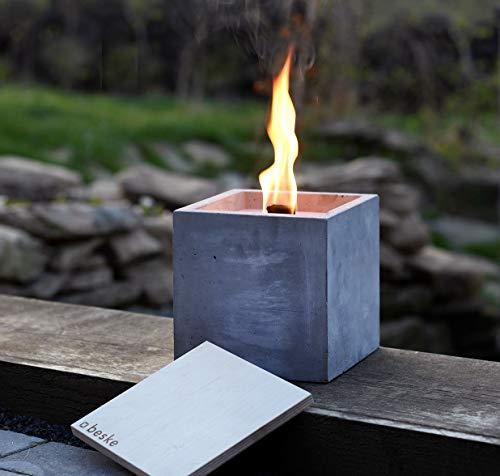 """Antorcha de hormigón con """"mecha permanente"""", Tamaño 17x17x17, Antorcha de jardín rellenable, Tiempo de combustión """"infinito"""" gracias al reciclado ecológico de la cera de las velas, Antorcha de mesa: Amazon.es: Handmade"""