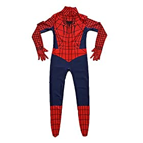- 415qJF 9woL - Kids Spiderman Costume Child Superhero Cosplay Elastic Jumpsuit Amazing Spandex Zentai Suit Halloween Boys Costumes