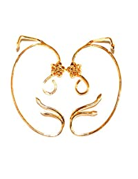 Gold Plated Belle Rose Ear cuffs