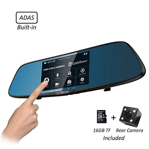 (GeekRover Rearview Mirror Dash Cam 5