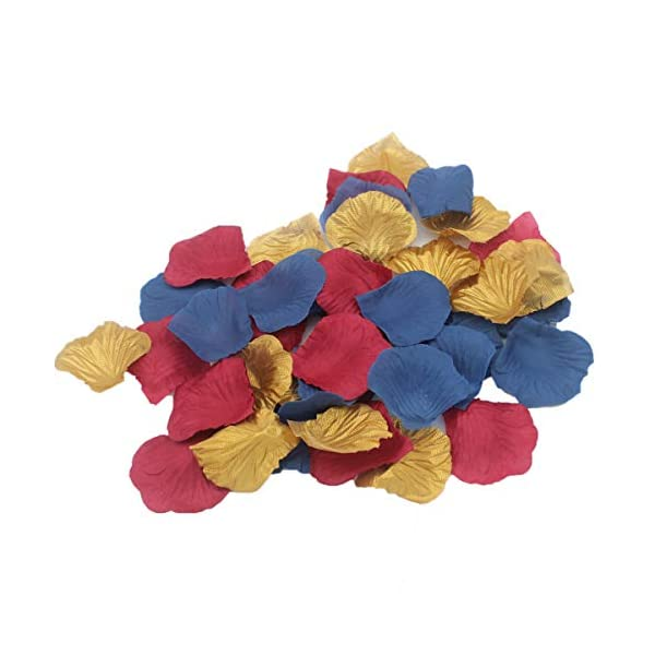 ALLHEARTDESIRES-900-Pack-Navy-Blue-Burgundy-Gold-Artificial-Rose-Flower-Petals-for-Wedding-Table-Confetti-Scatters-Bridal-Shower-Party-Flower-Girl-Basket-Decoration-Favor