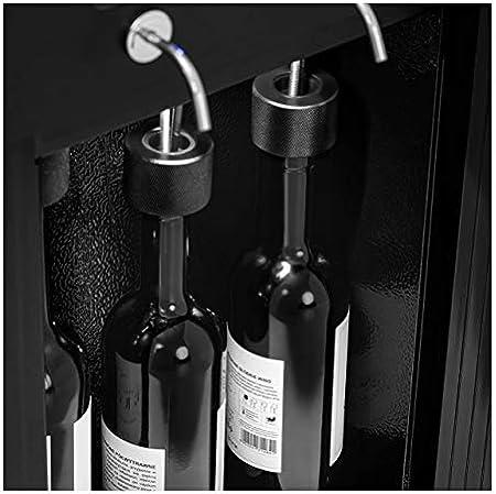 Royal Catering Nevera Para Vinos Refrigerador Vinoteca RC-WDB6 (Potencia: 120 W, Con dispensador, Para 6 botellas, Acero, vidrio y plástico)