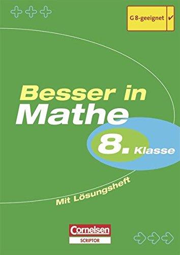 Besser in der Sekundarstufe I - Mathematik - Bisherige Ausgabe: 8. Schuljahr - Übungsbuch mit separatem Lösungsheft (20 S.)
