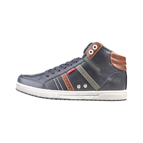 And Blue Uomo Steel Brown Levi's Sneaker 65434 Saddle Alte wAvgY6q