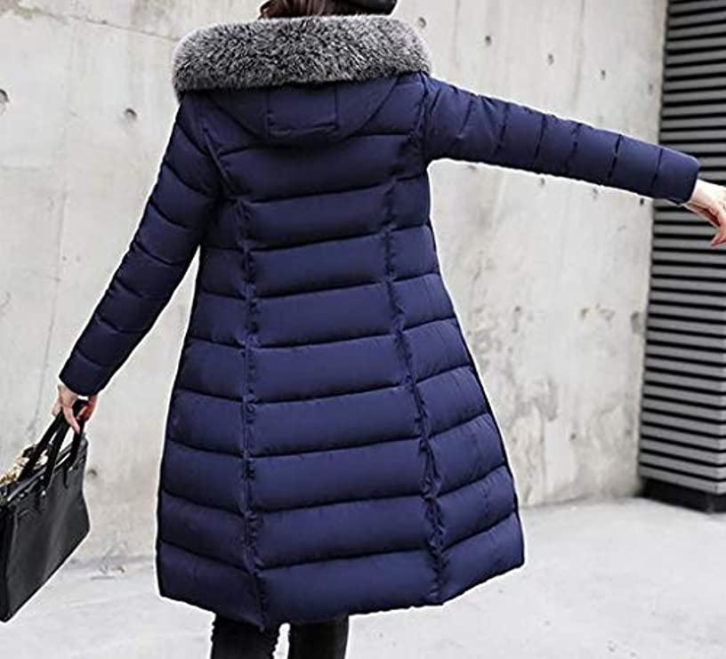 Faux Collar Reversibile Womens Jacket Winter Trapuntato Fur Mouten Hoodie Parka Down fnqRIFn7w