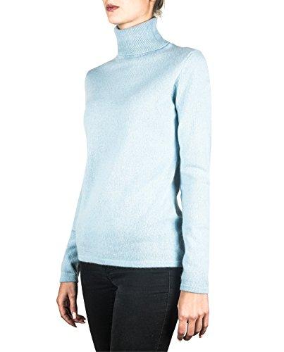 Maglione XS Pullover Blu MERE Sweater CASH 100 da Dolcevita CH XXL Chiaro Donna Cachemire 7ZIqEcT