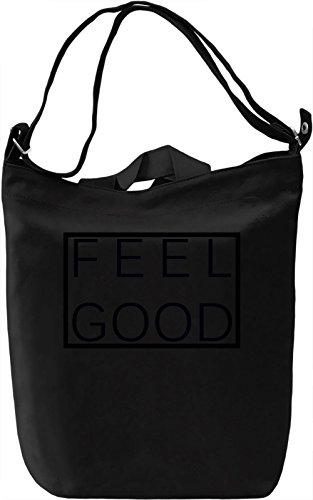 Feel good Borsa Giornaliera Canvas Canvas Day Bag| 100% Premium Cotton Canvas| DTG Printing|