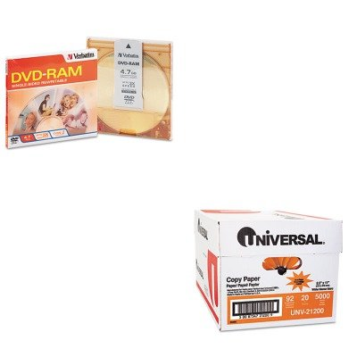 KITUNV21200VER95002 - Value Kit - Verbatim Type 4 DVD-RAM Cartridge (VER95002) and Universal Copy Paper (UNV21200)