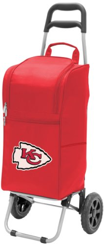 (NFL Kansas City Chiefs Insulated Cart Cooler with Wheeled Trolley,)