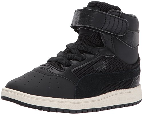 PUMA Kids' Sky II Hi Color Blocked Sneaker, Black Black,2 M US Little Kid