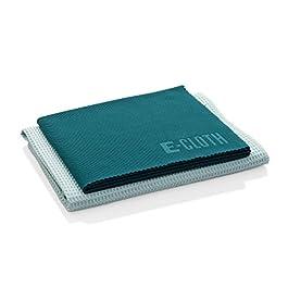 E-Cloth Window Cleaning Pack, Microfiber Glass Scrubbing Cloth & Polishing Cloth (Set of 2)