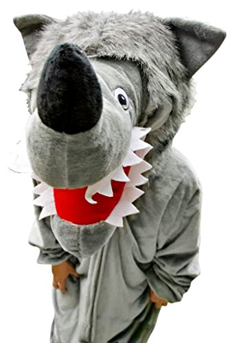 Fantasy World wolf halloween-costume men women, grey wolf costumes for adults, warewolf beast, mens womens halloween-costumes, costume ideas, wolf suit, animal fancy dress-up, F49 Size (Home Costumes Ideas For Women)