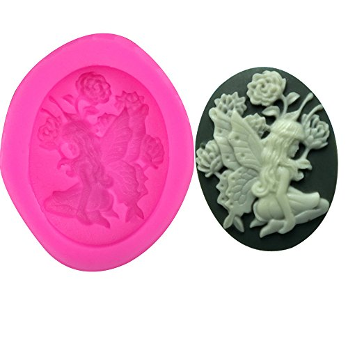 (Laliva Flower angel Shape 3D fondant cake silicone mold chocolate pastry candy Clay making form de silicone para decoration tools F0228)