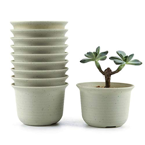 ursery Pot, 4.25 Inch Round Succulent Plant Pot/Cactus Plant Pot/Container/Planter Package 1 Pack of 10 ()