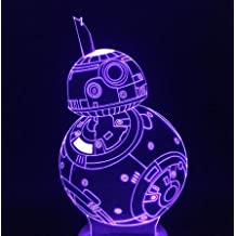YANGHX 3d Lamp Star Wars Robot BB-8 BB8 3D Touch Lamp Touch Dimming Desk Table Led Lamp Perfect Nightlight Awesome present for kids (Color: Multicolor)