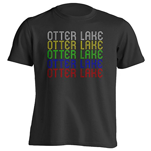 4Ink Retro Hometown - Otter-Lake, MI 48464 - Black - Large - Vintage - Unisex - T-Shirt