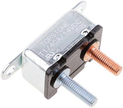 5A type 2 MagiDeal Disjoncteur /à Goujon 12V Fusible Automatique R/éinitialisation Circuit Breaker