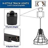 H-Type Track Pendant Lighting One-Light E26 Vintage