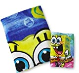 Kids Bath Sets Sponge Bob 2 Piece Bath Set (Bath Towel & Bathcloth)