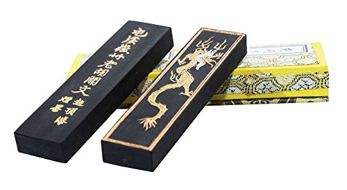 Hukaiwen Ink Block Easyou Handmade Fine Lacquer Soot Ink Stick for Chinese Japanese Calligraphy and Painting CdqTzhk 31g