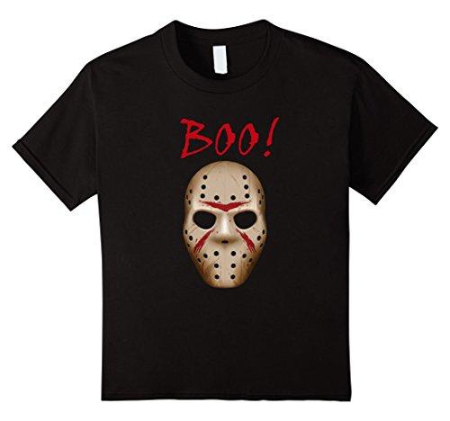 Kids Boo Shirt, Halloween Costume, Jason Mask Shirt 12 -