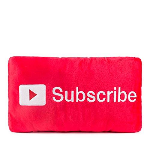 Throwboy Button Subscribe Pillows Plush