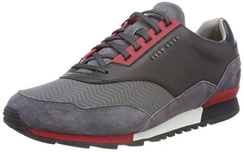 Homme Runn 030 Boss Grey Basses Sneakers Green Track Gris Zephir Medium qwRYECp