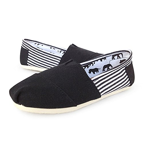 Unisex Scarpe Loafers Slip On Casuale Uomo Moda Flats Nero Dooxii Durevole Basse Espadrillas Donna dwAYdFq