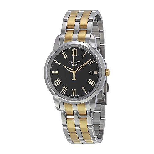 Tissot Two Tone Bracelet - Tissot Men's T0334102205301 Classic Dream Analog Display Swiss Quartz Two Tone Watch
