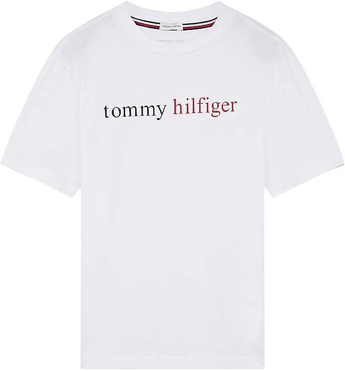 Tommy Hilfiger SS tee Logo Camiseta para Niños: Amazon.es: Ropa y accesorios