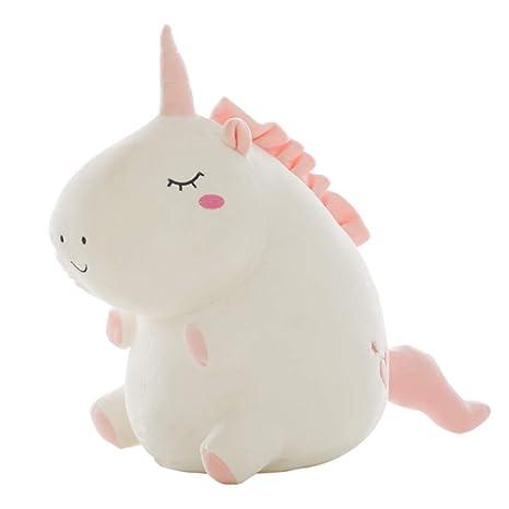 Muñeca de unicornio de ángel de peluche para niños y niñas blanco blanco Talla:25