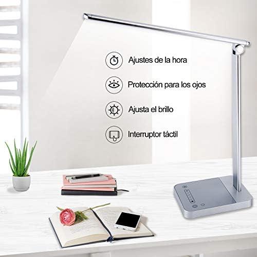 chollos oferta descuentos barato Lámpara escritorio LED con 6 Niveles Lámpara de Mesa 3 Modos del color ajustable