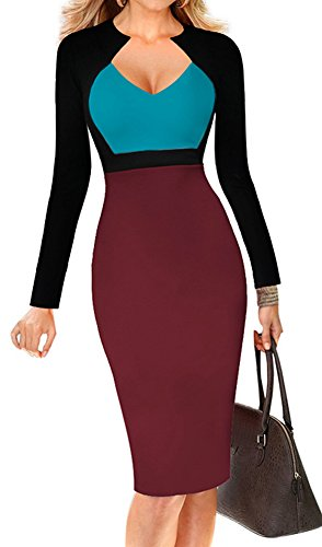 color block sheath dress - 1
