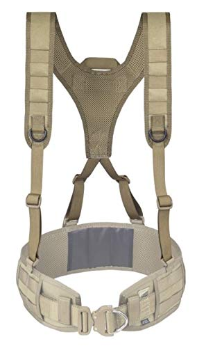 Elite Survival Systems Lightweight Battle Belt Harness, Coyote Tan, 3035-T