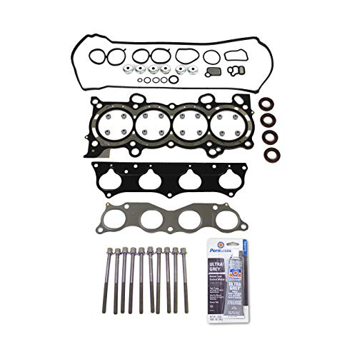 Head Gasket Set Bolt Kit Fits: 02-06 Honda CR-V VTEC 2.4L DOHC 16v 4 Cyl. K24A1 Cyl Head Gasket Set
