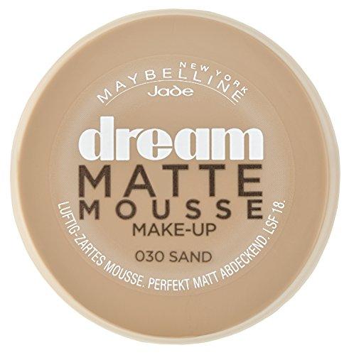 Maybelline New York Make-Up Dream Matte Mousse Sand 30 / Schminke in einem Hautfarbe-Ton mit mattiertem Finish, 1 x 18 ml